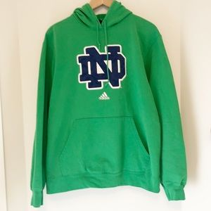 Adidas Notre Dame Hoodie green size medium